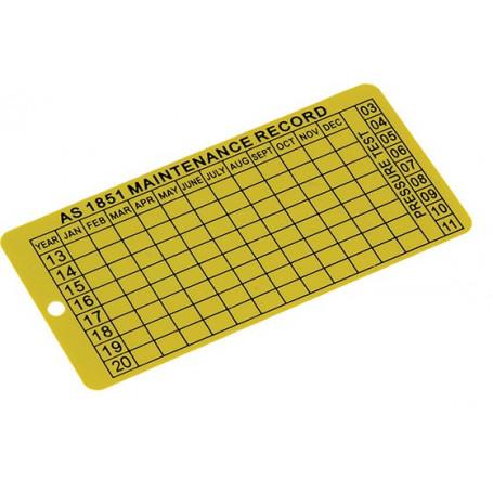 Maintenance Date Tag - Steel