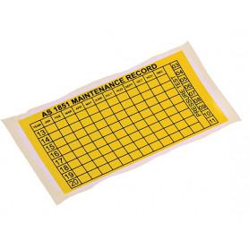 Maintenance Date Tag Sticker