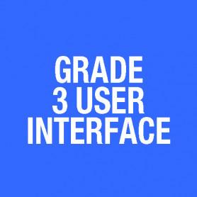 T-Gen2 GRADE 3 EWS UI 3U DOOR, C/W LOOM & MIC, BLACK FP1123