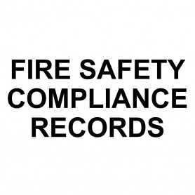 Printed Sticker - Fire Safety Compliance Records