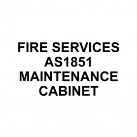 Printed Sticker - Fire Services AS1851 Maintenance Cabinet