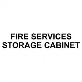 Printed Sticker - Fire Services Storage Cabinet