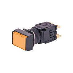24VDC Push Switch - Amber