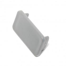 Channel End Cap Plastic Grey 20mm