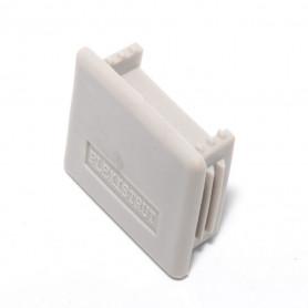 Channel End Cap Plastic Grey 40mm