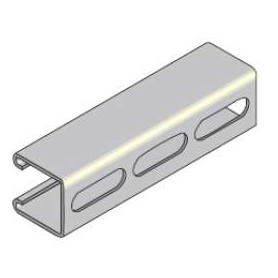 41mm x 62mm Slotted Channel x 6m