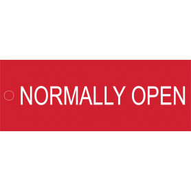 Normally Open - Traffolyte Label 80mm x 30mm