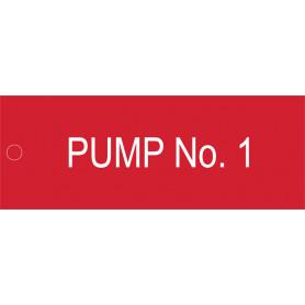Pump No 1 - Traffolyte Label 80mm x 30mm