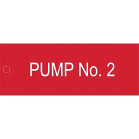 Pump No 2- Traffolyte Label 80mm x 30mm