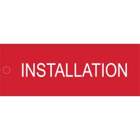 Installation - Traffolyte Label 80mm x 30mm