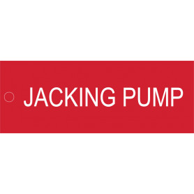 Jacking Pump - Traffolyte Label 80mm x 30mm