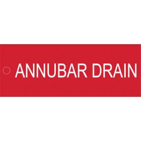 Annubar Drain - Traffolyte Label 80mm x 30mm