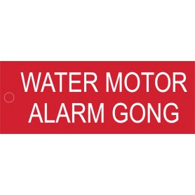Water Motor Alarm Gong - Traffolyte Label 80mm x 30mm
