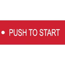 Push to Start - Traffolyte Label 80mm x 30mm