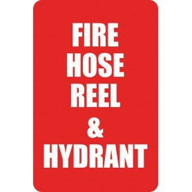 Fire Hose Reel & Hydrant - Small Sign - 150 x 225mm - (Words)