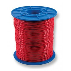 Twisted Red Sheath Twin Cable - 1.0mm - 500m Roll