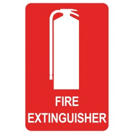 Extinguisher Location - Small Metal Sign - 150 x 225mm
