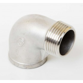 25Nb Stainless Steel 316 90° Elbow M/F
