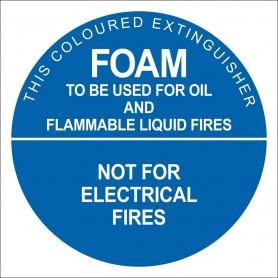 Air/Foam Identification Sign - 190 x 190mm