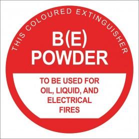 BE Dry Chem Identification Sign - 190 x 190mm