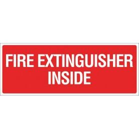 VINYL - Fire Extinguisher Inside - Sign - 300 x 100mm - STICKER