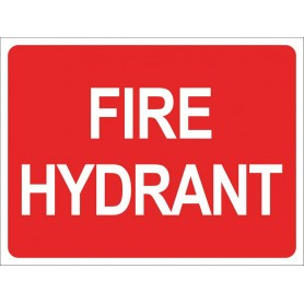 Fire Hydrant - Square Sign - 240mm x 300mm