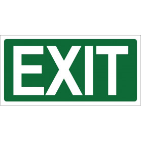Exit Sign Green - 270 x 135mm
