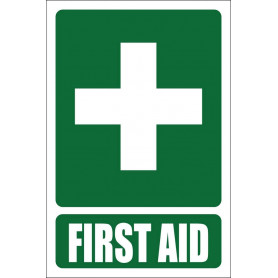 First Aid Sign Vinyl - 100mm x 150mm