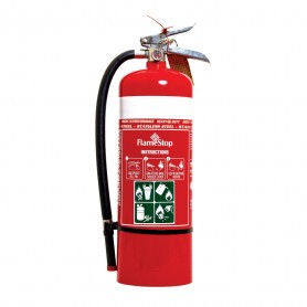 FlameStop 4.5kg Stainless Steel Heavy Duty ABE Powder Type Portable Fire Extinguisher