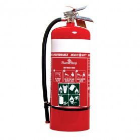 FlameStop 9.0kg Heavy Duty High Performance ABE Powder Type Portable Fire Extinguisher