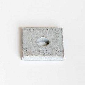 40mm x 40mm Square Washer c/w 11mm Hole HDG