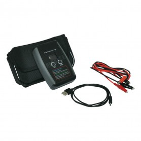 Impedance Meter- Hand Held with rechargeable lithium battery, test leads and soft carry case