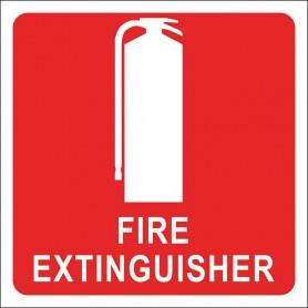 100mm x 100mm Extinguisher Location Sticker