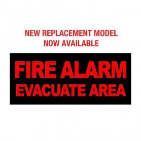 Internal Warning Sign - 'FIRE ALARM EVACUATE AREA'