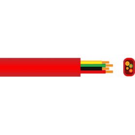 Red Sheath 4 Core Cable - 14/020 - 100m Roll