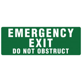 Emergency Exit - Do not obstruct