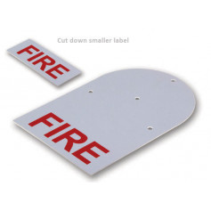 White Fire Back Plate Label