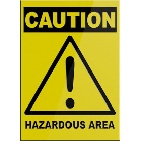 CAUTION Hazardous Area