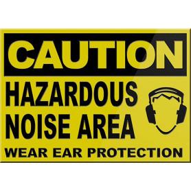 CAUTION Hazardous Noise Area