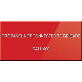 Fire Panel NOT Connected to Brigade Call 000