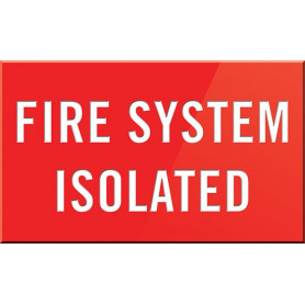 Fire System Isolated