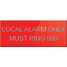 Local Alarm Only Must Ring 000