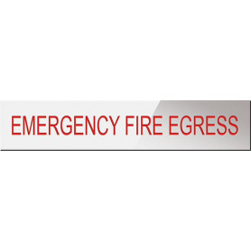 Emergency Fire Egress