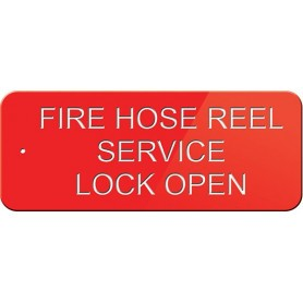 Fire Hose Reel Service Lock Open