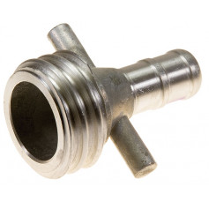 65mm QLD Alloy Coupling Male - 38mm Tail
