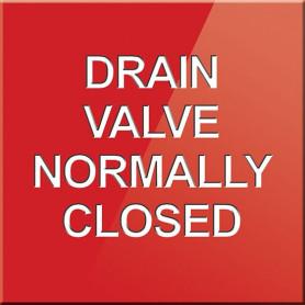 Drain Valve Normally Closed