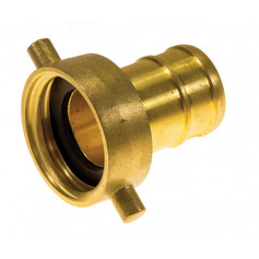 65mm QLD Brass Coupling Female - 65mm Tail