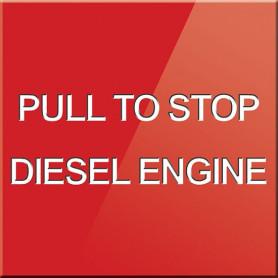 Pull To Stop Diesel Engine