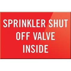 Sprinkler Shut Off Valve Inside
