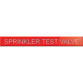 Sprinkler Test Valve